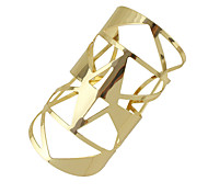 Gold Silver Color Hollow Out Big Statement Cuff Bracelets