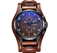 cheap -CURREN Men's Quartz Wrist Watch / Military Watch / Sport Watch Calendar / date / day / Cool Leather Band Luxury / Vintage / Casual /