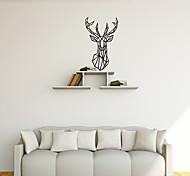 Недорогие -Животные / Геометрия / абстракция Наклейки Простые наклейки Декоративные наклейки на стены,PVC материал Съемная Украшение домаНаклейка на