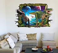 Животные / Пейзаж / 3D Наклейки Простые наклейки / 3D наклейки Декоративные наклейки на стены,PVC материал Съемная Украшение домаНаклейка
