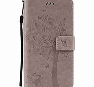 for Motorola Moto G4 Play G4 Tree and Cat Embossed PU Phone Case for Motorola G4 Play G4 G2 Z Z Force X Play X Style