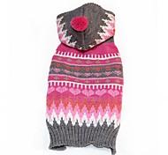 Кошка Собака Плащи Свитера Одежда для собак Для вечеринки На каждый день Косплей Сохраняет тепло Свадьба Рождество Новый год Полоски