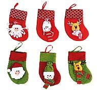 Предновогодние чулки новый год конфеты мешок чулок рождественские украшения Санта-Клауса носки рождественские украшения 6 шт / много