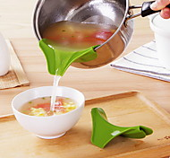 Silicone Funnel Pour Spout Slip On Mess  Leakage Kitchen Pot Round Deflector Edge Kitchen Tools