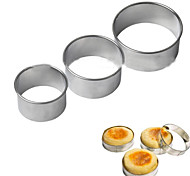 3Pcs Egg Muffin Ring Stack Prep Mold Cutters Circular Cookies Mold Stainless Steel Tools