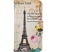 For LG K10 K8 Tower Of Paris Pattern Painting PU Material Phone Cover For LG K10 K8 K7
