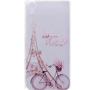 Case For Sony Xperia X Sony Case Transparent Pattern Back Cover Eiffel Tower Soft TPU for Sony Xperia X