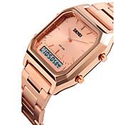 SKMEI Homens Relógio Esportivo Relogio digital Digital LCD Calendário Impermeável Dois Fusos Horários Três Fusos Horários alarme Luminoso