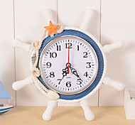 cheap -Clock Wall Clock Antique / Casual / Traditional Wood / Plastic Round