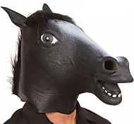 Недорогие -Маски на Хэллоуин Животная маска Игрушки Голова лошади Латекс Ужасы Оригинальная обувь 1 Куски Универсальные Хэллоуин Маскарад Подарок