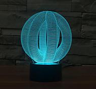 круг мяч сенсорным затемнением 3D LED ночь свет 7colorful украшения атмосфера новизны светильника освещения свет рождества
