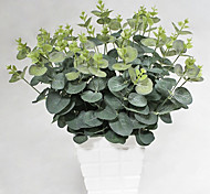 cheap -20 Heads/Bouquet Silk Eucalyptus Fake Plant Household Decorations