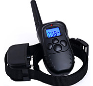 Dog Bark Collar / Dog Training Collars Anti Bark Rechargeable 300M Remote Control Shock/Vibration Waterproof Solid Black