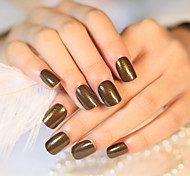 24PCS/SET  Nail Strips Brief Paragraph Bead Light Coffee Color Fashion Trends