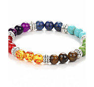 cheap -Men's Women's Strand Bracelet - Colorful Fashion Beaded Circle Green Bracelet For Christmas Gifts Daily Casual