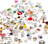 cheap -10pcs High Quality Random Mix of Manicure Alloy Jewelry