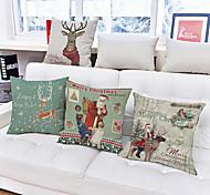abordables -1pcs guirnalda de Navidad decoraciones de Navidad patrón almohada cubierta