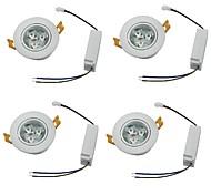 Downlight de LED Branco Quente / Branco Frio LED 4 pçs