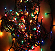MX-QCD 100L 10 Meter Decorate Lights String Bring Holiday Tree Lights Flashing Automatic Color Changing