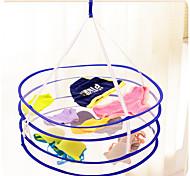 Double-Deck Folding Drying Laundry Basket(Random Colour)