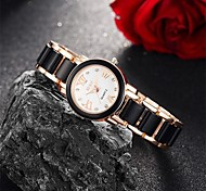 Women's Fashion Watch Wrist watch Bracelet Watch Quartz Water Resistant / Water Proof Alloy Band Charm Casual Black White