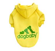 Недорогие -Собака Толстовки Одежда для собак Однотонный Серый Желтый Красный Черный Хлопок Костюм Для домашних животных Муж. Жен. Мода
