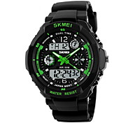 SKMEI® Men's Watch Sport Watch Japanese Quartz Analog-Digital Watch Dual Time Zones Chronograph Calendar LCD Cool Watch Unique Watch Fashion Watch