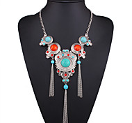 cheap -Women's Shape Sexy Fashion European Pendant Necklace Statement Necklace Turquoise Multi-stone Resin Turquoise Alloy Pendant Necklace