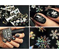 preiswerte -1 Nagel-Kunst-Aufkleber Wassertransfer Abziehbilder Make-up kosmetische Nail Art Design