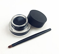cheap -Waterproof Black Natural EyeLiner with Brush Set Cosmetic Beauty Care Makeup for Face