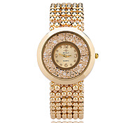 cheap -Women's Floating Crystal Watch Wrist watch Fashion Watch Quartz / Casual Watch Alloy Band Casual Elegant Cool Silver Gold Rose Gold