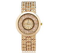 baratos -Mulheres Relógio de Moda Relógio de Pulso Relógios Femininos com Cristais Quartzo / Lega Banda Casual Legal Elegant Prata Dourada Ouro