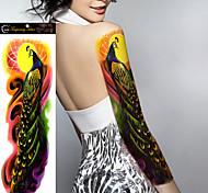 Недорогие -Временные тату Прочее Non Toxic Большой размер Waterproof Женский Мужской Подростки Вспышка татуировки Временные татуировки