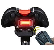 Недорогие -Задняя подсветка на велосипед Светодиодная лампа Велоспорт Будильник Пульт управления Очень легкие Smart литиевая батарейка 100 Люмен