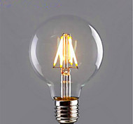 1PCS 6W E26/E27 LED Filament Bulbs G95 6 leds COB Decorative Dimmable Warm White 500-550lm 2300-2800K AC 220-240V