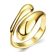 Damen Ring Modeschmuck Kupfer versilbert vergoldet Rose Gold überzogen Geometrische Form Schmuck Für Hochzeit Party Alltag Normal
