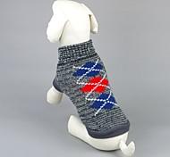 Недорогие -Кошка Собака Свитера Одежда для собак На каждый день геометрический Серый Розовый Костюм Для домашних животных