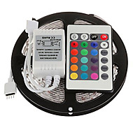 cheap -Light Sets 300 LEDs RGB Remote Control / RC Cuttable Dimmable Color-Changing Self-adhesive Linkable DC 12V