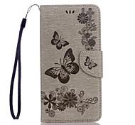 Para el material de cuero de la PU del pixel pixel xl de google patrón de mariposa en relieve caja del teléfono del color sólido