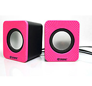 cheap -Mini Portable Stereo Super Bass 3.5mm AUX USB Bookshelf computer speaker White Dark Blue Dark Pink