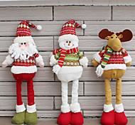 Недорогие -1шт случайных складная горячей продажи рождественские украшения Санта-Клауса снеговик рождественские фигурки