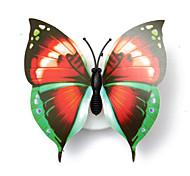 3шт прекрасный творческий цвет меняется абс бабочки привели ночные огни лампа красивый дом декоративные настенные звёздная ночь (стиль