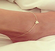 Women's Anklet/Bracelet Alloy Love Simple Style Fashion European Handmade Costume Jewelry Jewelry For Wedding