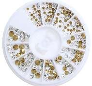 cheap -200pcs/Box Mix 3 Size Nail Art Decoration Rhinestone Pearls Makeup Cosmetic Nail Art Design