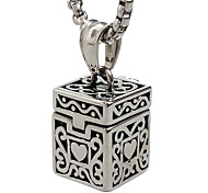 cheap -Men's Pendant Necklace Box Stainless Steel Titanium Steel Fashion Punk Jewelry For Daily