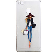 For Huawei P9 P9Lite Case Cover Fashion Girl Pattern High Permeability Painting TPU Material Phone Case