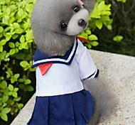 Недорогие -Кошка Собака Костюмы Платья Одежда для собак Косплей Мода Морской Синий Костюм Для домашних животных