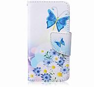 Недорогие -синий корпус для бабочки pu phone case для apple itouch 5 6 чехлов для ipod / чехлы