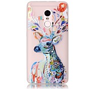 For Xiaomi Redmi Note 4 Pro Glow in the Dark Translucent Case Back Cover Case Deer Soft TPU