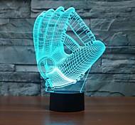 Handschuhe berühren dimmen 3d führte Nachtlicht 7colorful Dekoration Atmosphäre Lampe Neuheit Beleuchtung Licht
